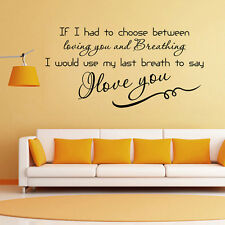 I Love You Quote Words Mural Removable Wall Sticker Vinyl Decal Room Home Decor