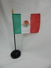 "Mexico 4""x6"" Hand Held  or Table Top Flags International Country Flag - Méjico"