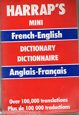Harrap's Mini French-English Dictionary (plastic covered paperback, 1988)