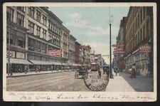 Postcard TOLEDO Ohio/OH  Summit St Adams Express & Cigar Store Signs view 1906