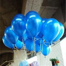 5pcs/lot 10 inch Blue Latex Helium Round Thick Pearl balloons Wedding Party