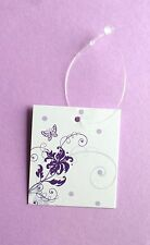 ACCESSORIES TAGS CLOTHING TAGS 100  CUTE BUTTERFLY TAGS W/SELF-LOCKING  LOOPS