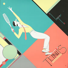 Original Vintage Poster Tennis Art Deco Lepas 1990 French Sports Gatsby 1920s