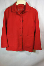 PRADA RED WOOL, MOHAIR & COTTON COAT W/GATHERED BACK - RED LABEL - M