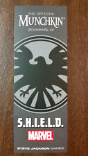 Munchkin Marvel Promo Bookmark of S.H.I.E.L.D. Steve Jackson Games USAopoly