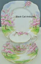 Delightful Royal Albert Blossom Time Trio Tea Cup & Saucer & Luncheon Plate