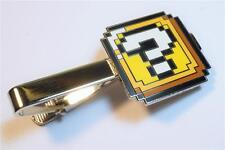 Super Mario World Bros ? QUESTION BLOCK PIxel SNES Nintendo Suit Tie Bar Clip