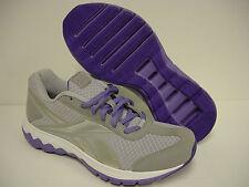 NEW Womens Sz 6.5 REEBOK Foam Fuel Techno J87322 Silver Purple Sneakers Shoes