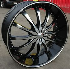 """24"""" INCH DW8B WHEELS RIMS & TIRES CHALLENGER CAMARO CHARGER MAGNUM 300C CUTLESS"""