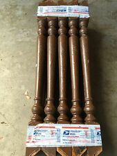 """21 ANTIQUE 21 1/2"""" PAINTED WOOD STAIR STAIRCASE PORCH RAILING BALUSTERS SPINDLES"""