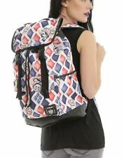 DC Comics Suicide Squad Harley Quinn Large Slouch Tatoo Backpack Book Bag - New