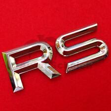 RS Emblem Zeichen Chrom Schriftzug Auto Aufkleber Motorhaube Kotflügel Logo 3D
