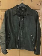 VINTAGE SCHOTT 652 BLACK CAFERACER LEATHER MOTORCYCLE JACKET SIZE 38 ROCKER
