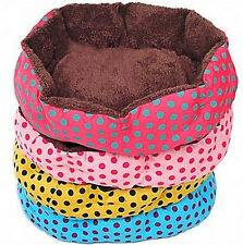 FD1866 Small Large Polka Dot Pet Dog Puppy Cat Soft Warm Bed House Nest Mat Pad