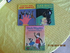 4 lot old Wonder UNCLE WIGGILY'S ADVENTURES BABY ANIMALS BLACK BEAUTY PETER COTT