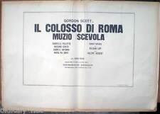 fotobusta completa 10+1 '64 IL COLOSSO DI ROMA Muzio Scevola-Gordon Scott-Serato