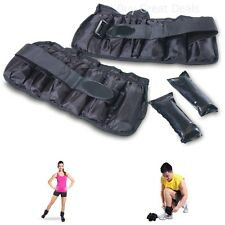 Valeo Adjustable 10-Pound Ankle Wrist Weights Fitness Aerobic Training Strenght