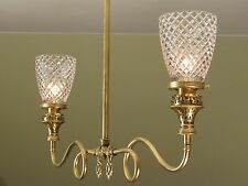 EXQUISITE! Antique Gas Light Fixture Restored with Electrical Wiring