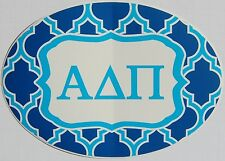 "Large Alpha Delta Pi Euro Style Waterproof Vinyl Decal Sticker 7"" X 5"" Nice!"
