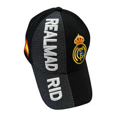 REAL MADRID BLACK COUNTRY FLAG FIFA SOCCER WORLD CUP EMBOSSED HAT CAP .. NEW