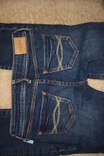 ABERCROMBIE - GIRLS SIZE 14 SLIM - CUTE STRETCH MEDIUM BLUE DENIM JEANS - USED M