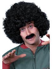 80er Jahre Liverpool Perücken-Set schwarz NEU - Karneval Fasching Perücke Haare