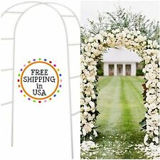Wedding Arch White Metal 7.5 FT Party Bridal Prom Floral Arch Garden Decoration