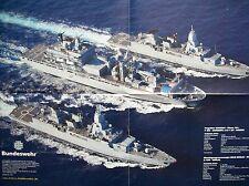"""Poster Bundeswehr Schiff Schiffe """"EGV BERLIN mit Fregatten"""" - DIN A2 - NEU"""