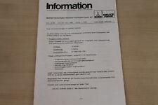 177390) Deutz Fahr Info - Verkaufsunterlagen für Intrac 2004 G - Prospekt 11/198
