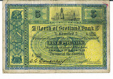 North of scotland bank 5 S640a 01.03.1932 gvg main signé c g coventry