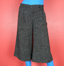 Twenty One Low Rise Tweed Culottes Pants M 8 10 12 Gaucho Palazzo Wide Knee USA