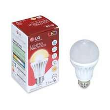 TWO Warm White Natural Light LG 485 Lumens 120 volt LED Bulbs Value pack A19 E26