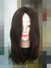 18in 3# Color Virgin Remy Human Hair Wig Full Wig Sheitel Wig Kosher Wig