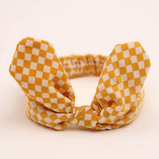 Yellow Baby Kids Girls Infant Cute Rabbit Bow Headband Hairband Headwear Turban