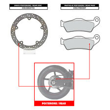 BREMBO REAR DISC (+ BRAKE PADS) - BMW R 1150 GS / ADVENTURE (99-05) - 68B407C8