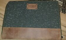 Ted Baker Green and Tan iPad Zipper Tablet Case