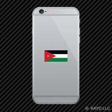 Jordanian Flag Cell Phone Sticker Mobile Jordan JOR JO