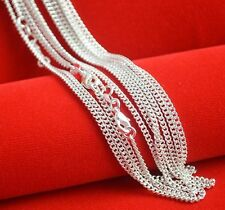 """Bulk Wholesale Lots 5pcs 2mm 20"""" Silver Plated Women Jewelry Curb Chain Necklace"""