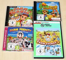 4 pc jeux collection Farm Frenzy 1 3 Farm Mania FARMSCAPES-fourmilière