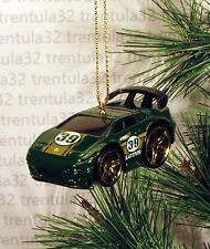 LOTUS ESPRIT RACE CAR DARK GREEN GOLD #39 RACING CHRISTMAS ORNAMENT XMAS