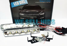 5 LED Daytime Running White 19 CM Car Hight Power DRL LIGHTS BULBS COB CREE
