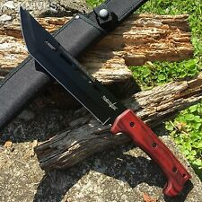 """SURVIVOR HUGE 14"""" Bowie Hunting Knife Wood Handle with sheath NEW HK-776WD"""