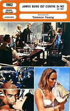CARTE FICHE CINEMA 1962 JAMES BOND CONTRE DR NO Sean Connery Andress