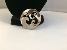 RARE MUSEUM OF FINE ARTS STERLING 925 ART DECO WAVES/OCEANIC BROOCH~
