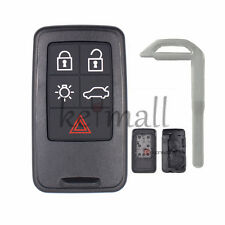 Replacement for Volvo S60 S80 V70 XC70 XC90 Remote Key Case Fob 5Btn+Uncut Blank