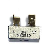 2pc Bridge Diode Rectifier MB3510 3510 35A 1000V GW Taiwan ( = KBPC3510 )