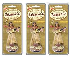 3 Pack Of Dancing Hula Girl Car Dashboard Air Freshener Pina Colada Scent Bahama