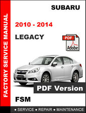 SUBARU LEGACY 2010 - 2014 ULTIMATE FACTORY WORKSHOP SERVICE REPAIR FSM MANUAL