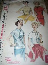 1956 SIMPLICITY #1782 - LADIES ~ SIMPLE TO MAKE ~ SHORT SLEEVE BLOUSE PATTERN 11