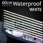 8x 60cm LED Strip Lights Cool White 3528 Waterproof Bar Camping Caravan Boat 12V